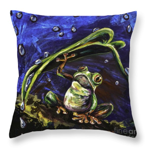 Umbrella Throw Pillow by Lovejoy Creations
