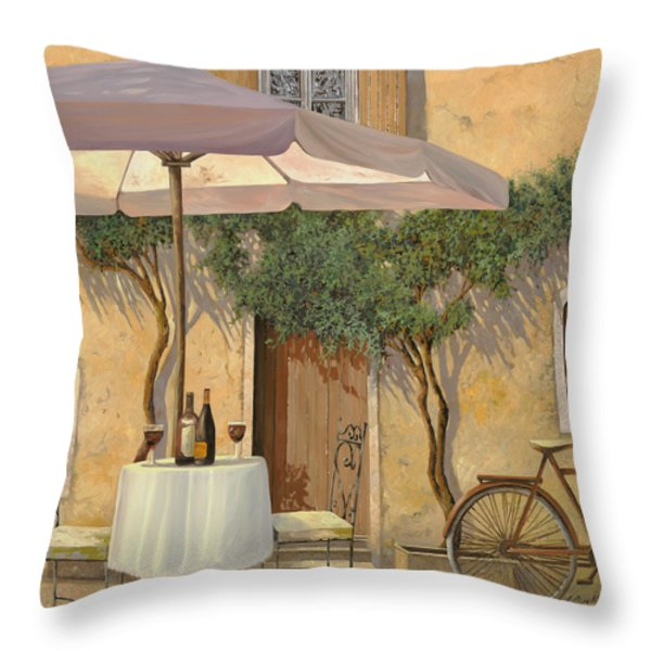un ombra in cortile Throw Pillow by Guido Borelli