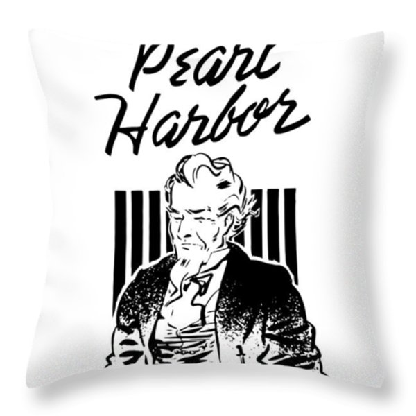 Uncle Sam Remember Pearl Harbor  Throw Pillow by War Is Hell Store
