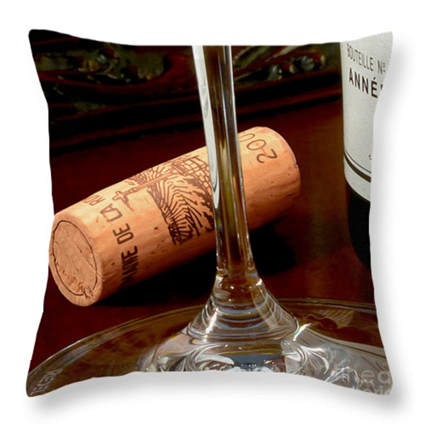 Uncorked Throw Pillow by Jon Neidert