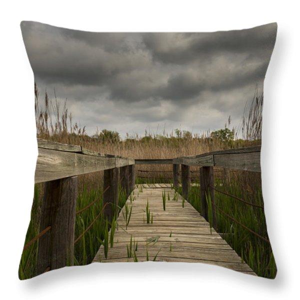 Under The Boardwalk Throw Pillow by Jonathan Davison