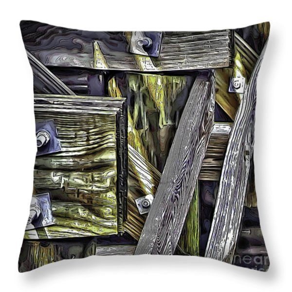 Under The Boardwalk Throw Pillow by Walt Foegelle