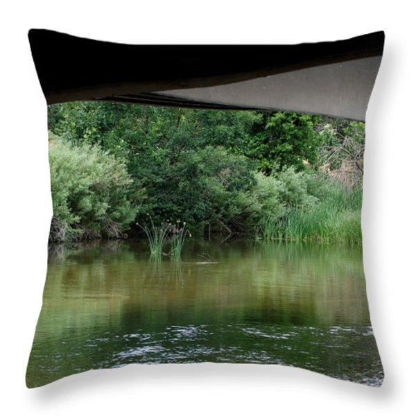 Under the Bridge Throw Pillow by Ernie Echols