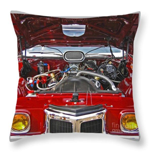 Under The Hood Throw Pillow by Ann Horn