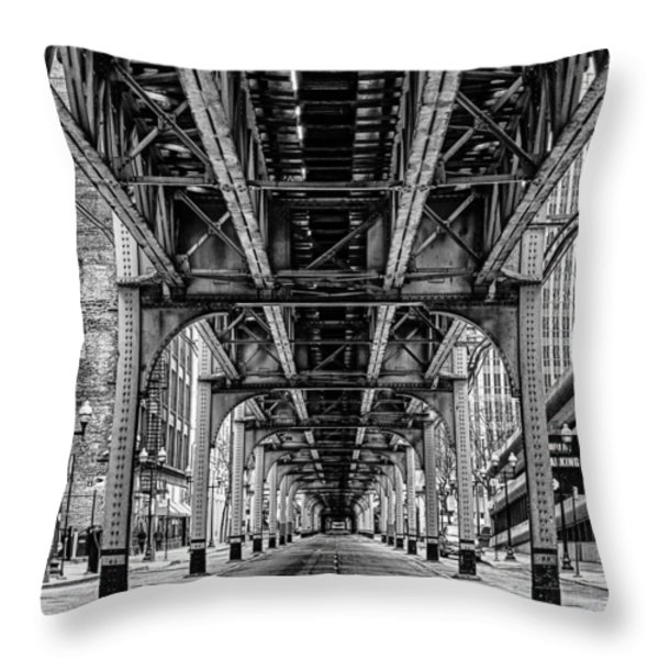 Under The Red Line Throw Pillow by Mike Burgquist
