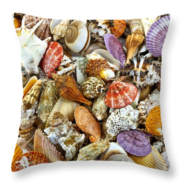 Under the Sea Throw Pillow by Carole Gordon