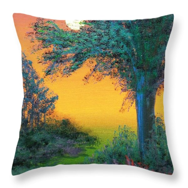Under The Solstice Moon Throw Pillow by Alys Caviness-Gober