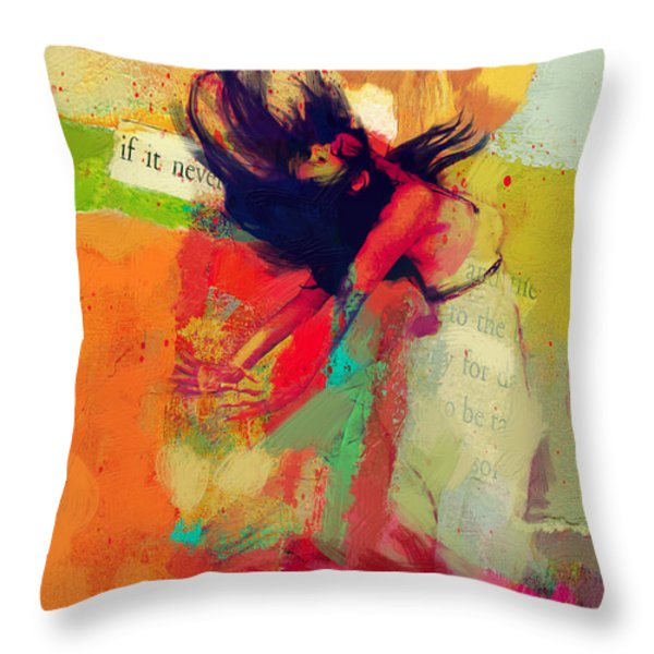 Under the Sun Throw Pillow by Corporate Art Task Force