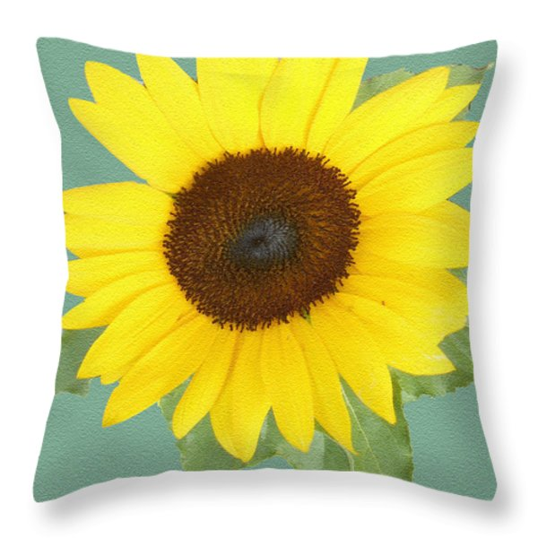 Under The Sunflower's Spell Throw Pillow by Patricia Keller