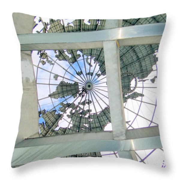 Under The Unisphere Throw Pillow by Ed Weidman