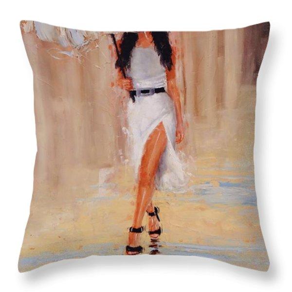 Undercover Throw Pillow by Laura Lee Zanghetti