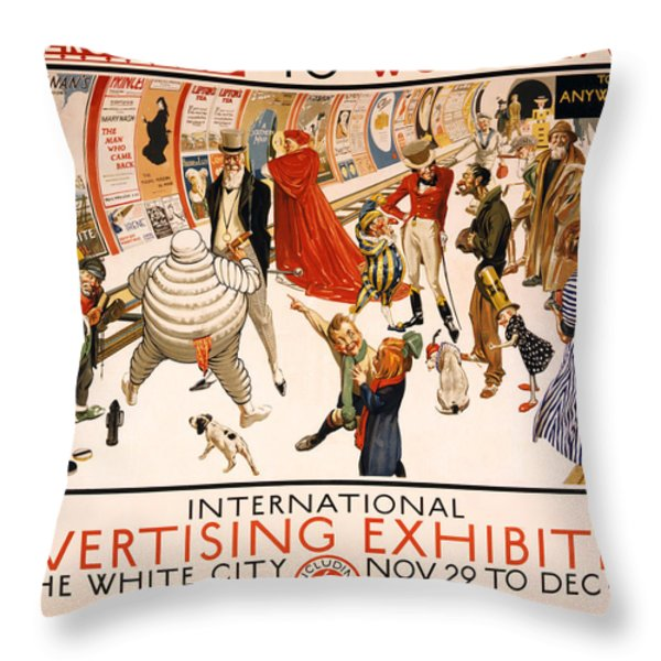Underground to Wood Lane to Anywhere Throw Pillow by Nomad Art And  Design