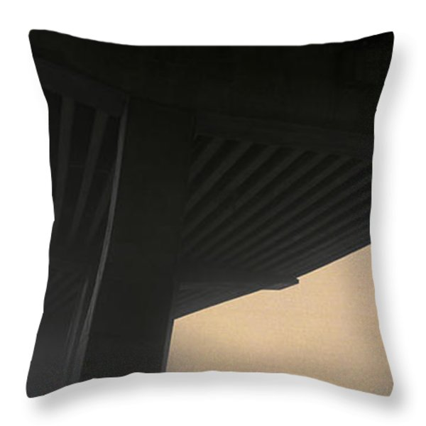 Underneath Decaying Decarie Autoroute Throw Pillow by Roderick Chen