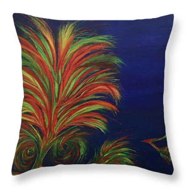 Undersea Throw Pillow by Robert Nickologianis