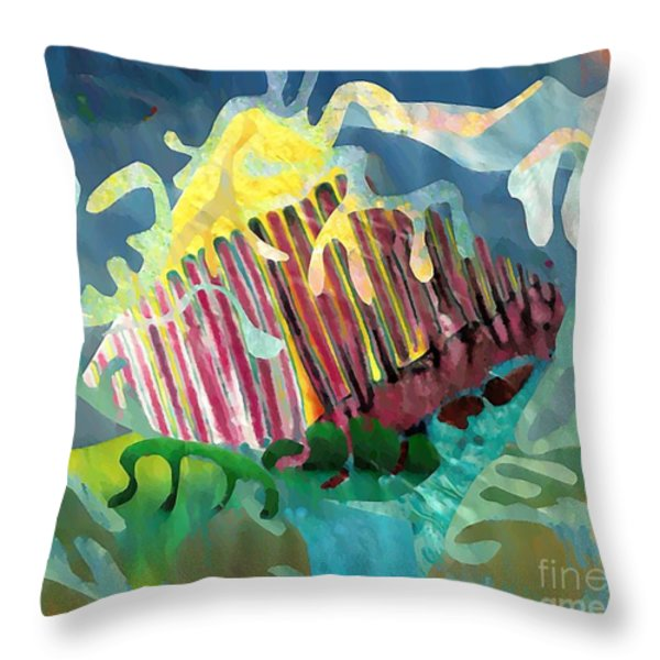 Undersea Still Life Throw Pillow by Sarah Loft