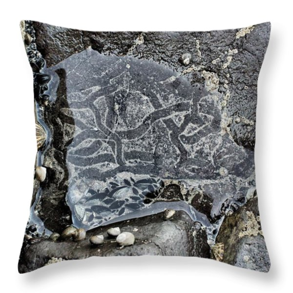 Underwater Labyrinth Throw Pillow by Marco Oliveira
