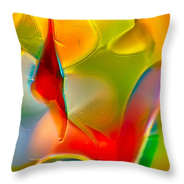 Underwater Welcome Throw Pillow by Omaste Witkowski