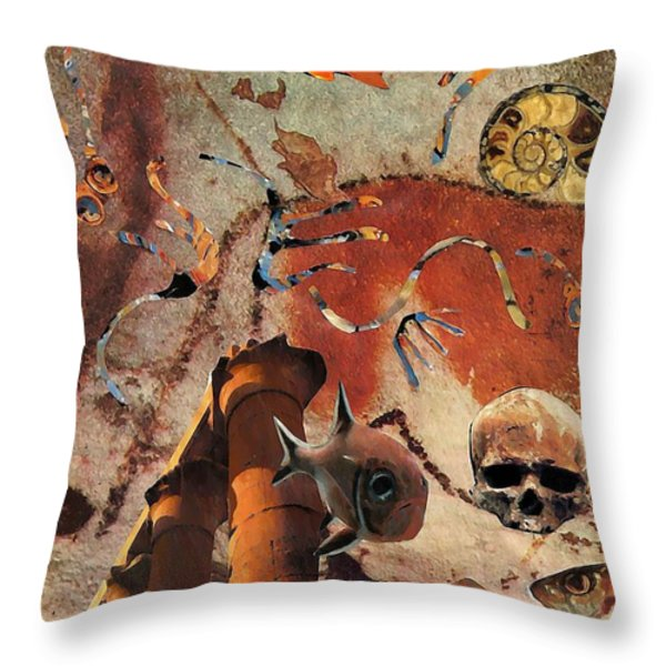 Underworld Throw Pillow by Sarah Loft