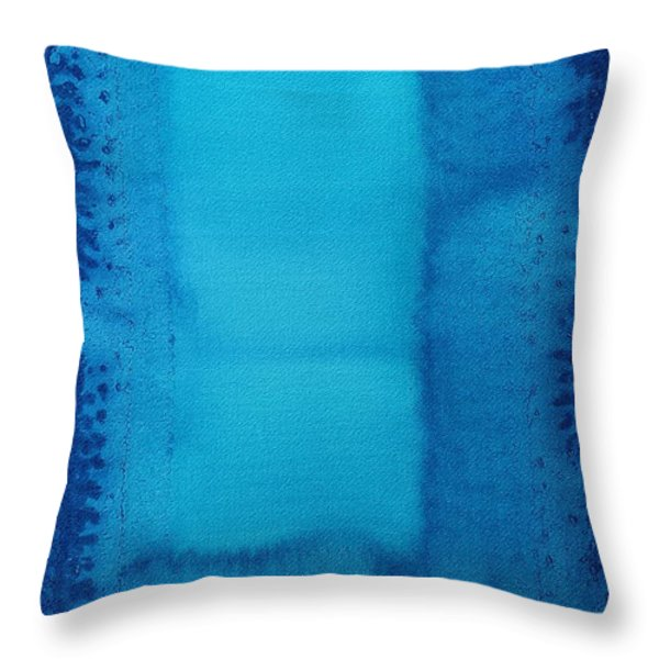 Undiscovered Country original painting Throw Pillow by Sol Luckman