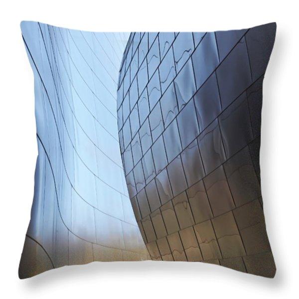 Undulating Steel Throw Pillow by Rona Black