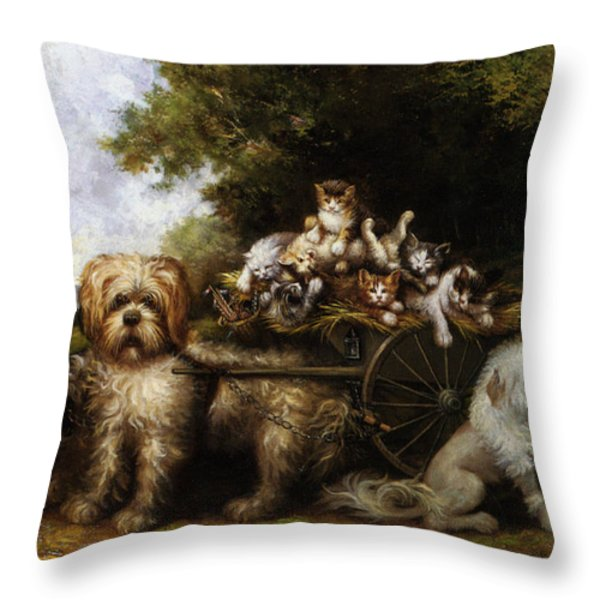 Une Tournee en Provence Throw Pillow by Leroy Jules