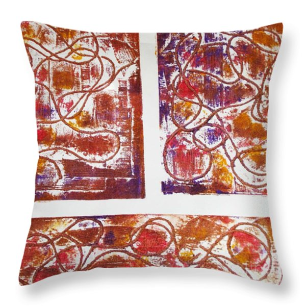 Unique Abstract II Throw Pillow by Yael VanGruber