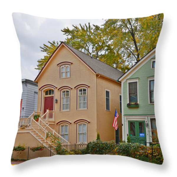 Unique Old Town Chicago Throw Pillow by Christine Till