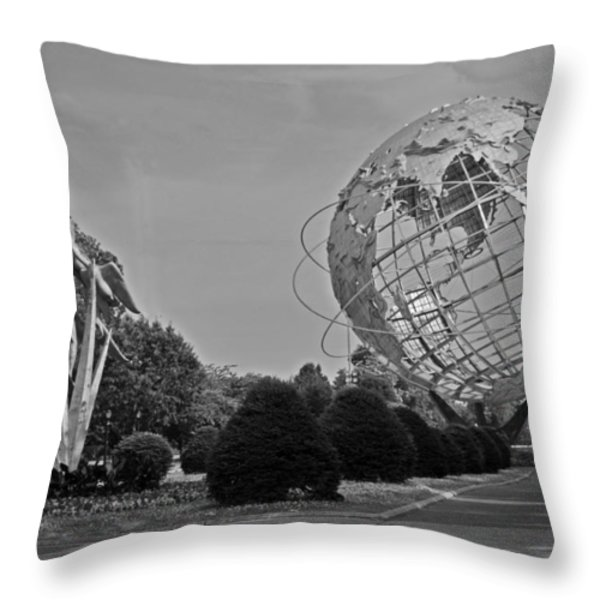 Unisphere In Corona Park Throw Pillow by Mike Martin