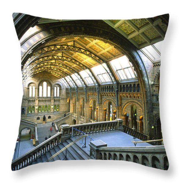United Kingdom, London, Science Museum Throw Pillow by Tips Images