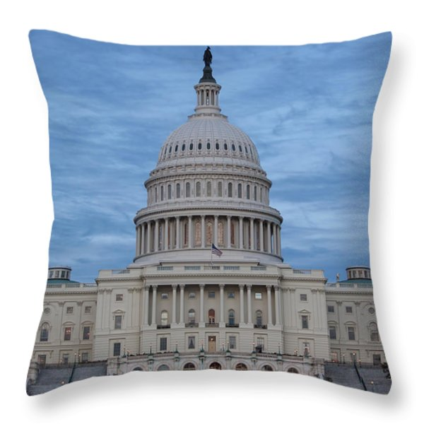 United States Capitol Building Throw Pillow by Kim Hojnacki