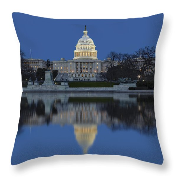 United States Capitol Building Throw Pillow by Susan Candelario