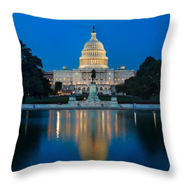 United States Capitol Throw Pillow by Steve Gadomski