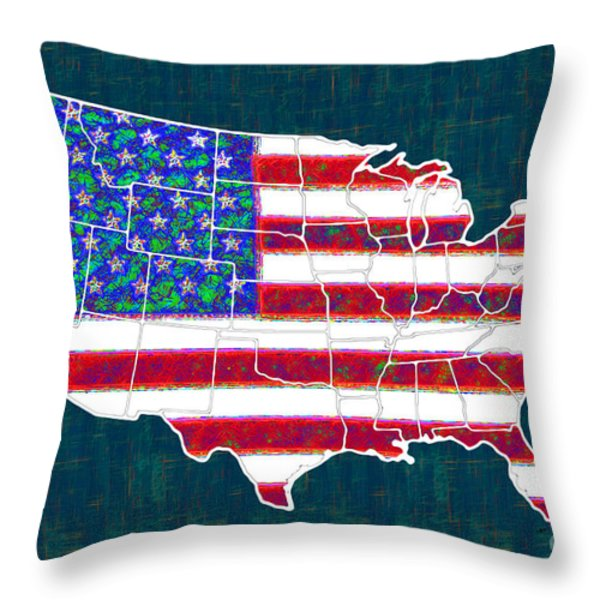 United States of America - 20130122 Throw Pillow by Wingsdomain Art and Photography