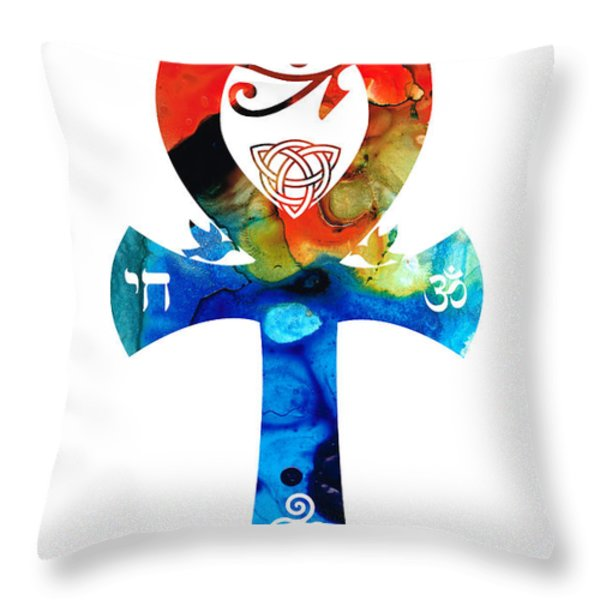 Unity 16 - Spiritual Artwork Throw Pillow by Sharon Cummings