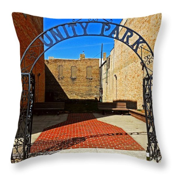 Unity In America Today Throw Pillow by Desiree Paquette