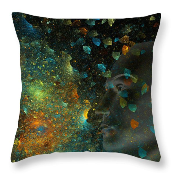 Universal Mind Throw Pillow by Betsy A  Cutler