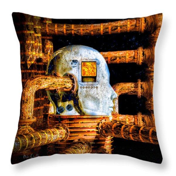 Universal Mind Throw Pillow by Bob Orsillo