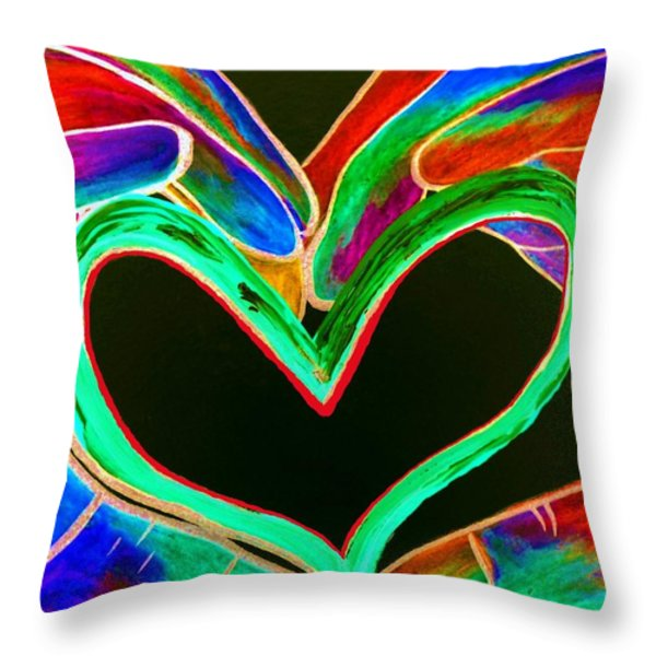 Universal Sign for Love Throw Pillow by Eloise Schneider