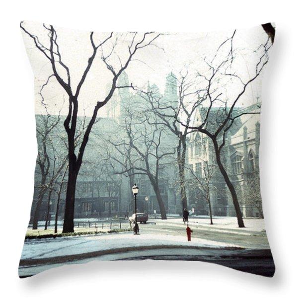 University of Chicago 1976 Throw Pillow by Joseph Duba