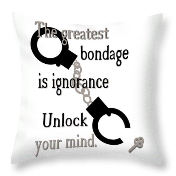 Unlock Your Mind Throw Pillow by Pharris Art