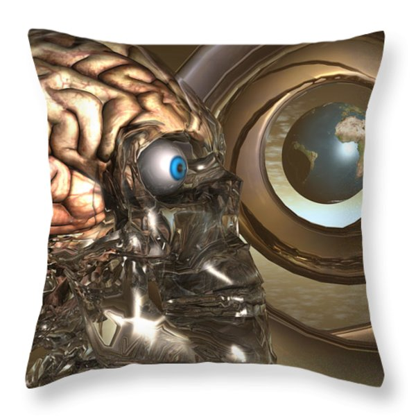 Unraveling The Final Frontier Of Science Throw Pillow by Jon D Gemma