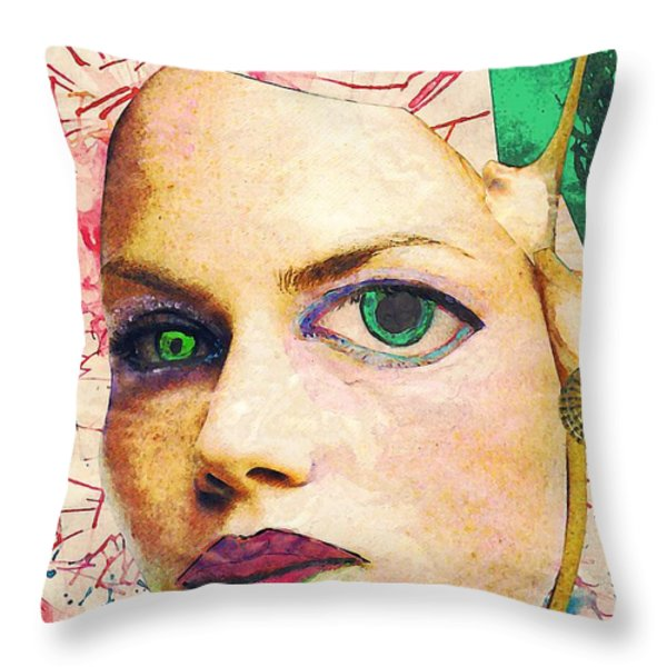 Unsettling Gaze Throw Pillow by Sarah Loft