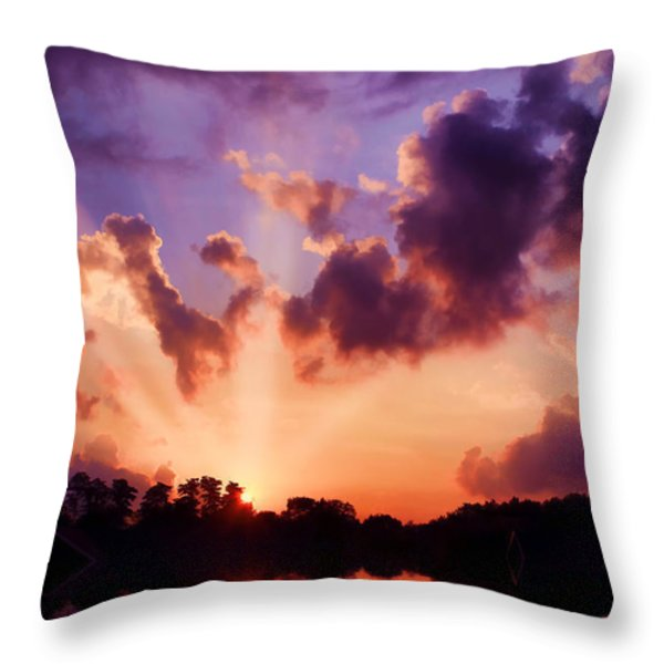 Until Tomorrow Throw Pillow by Darren Fisher
