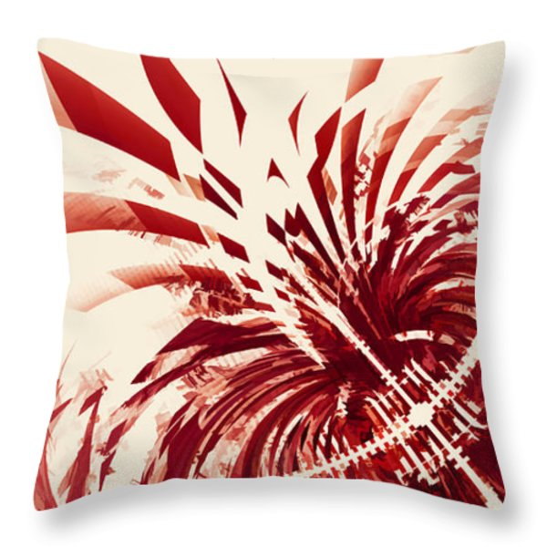 Untitled Red Throw Pillow by Scott Norris