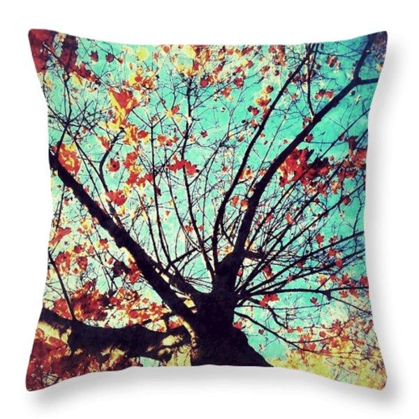 Untitled Tree Web Throw Pillow by Juliann Sweet