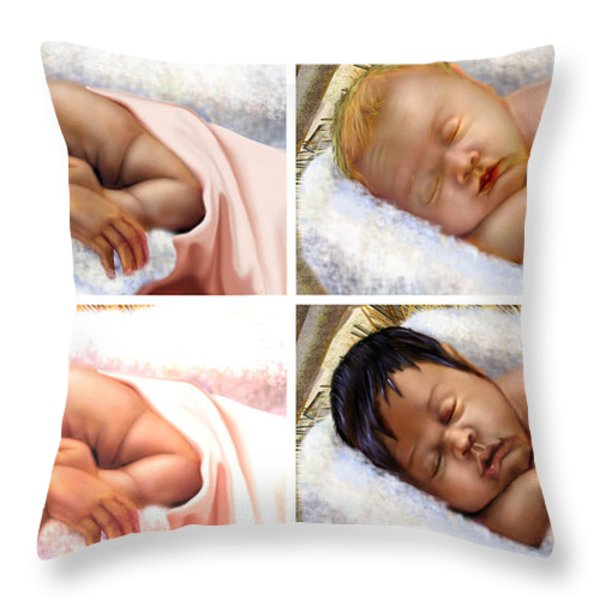 Unto The World A King Is Borne Throw Pillow by Reggie Duffie