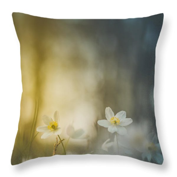 Untouched II Throw Pillow by Happy Melvin