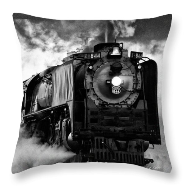 Up 844 Steaming It Up Throw Pillow by Bill Kesler