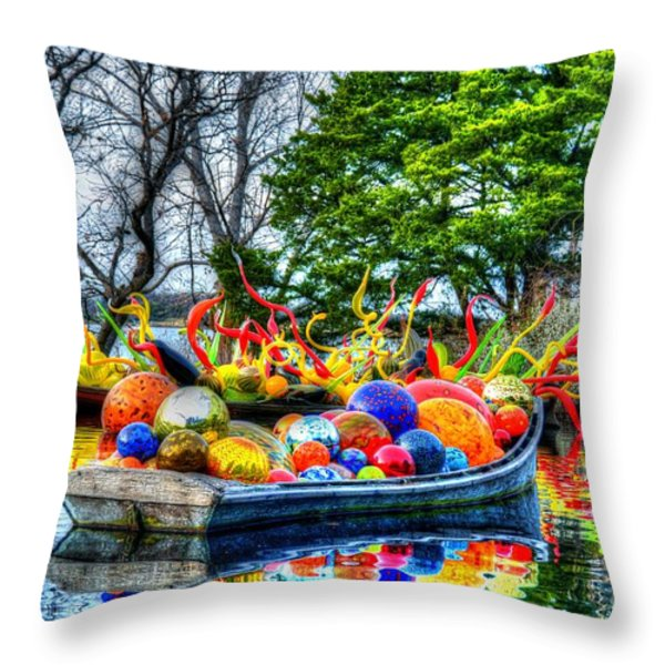 Up The Creek Without A Paddle Throw Pillow by Debbi Granruth