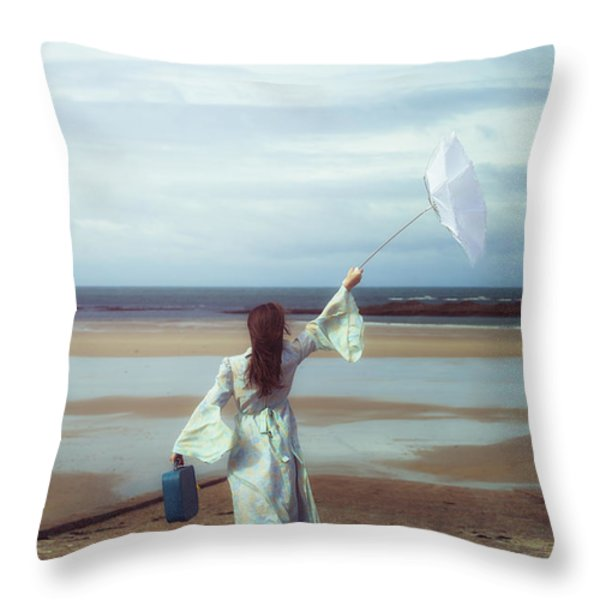 upended umbrella Throw Pillow by Joana Kruse